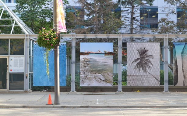 three large photographs, part of Future Perfect, an installation by Nico Krebs and Taiyo Onorato,